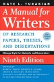 Go to record A manual for writers of research papers, theses, and disse...